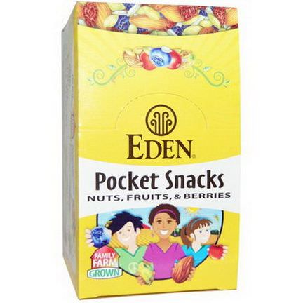 Eden Foods, Pocket Snacks, Tamari Almonds, Dry Roasted, Organic, 12 Packages 28.3g Each