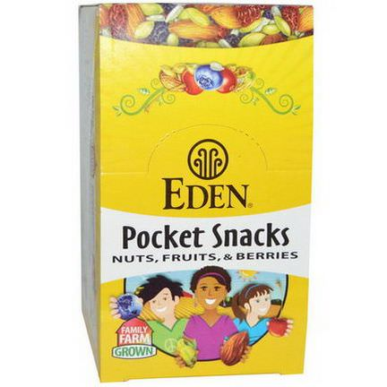 Eden Foods, Pocket Snacks, Wild Berry Mix, 12 Packages 28.3g Each