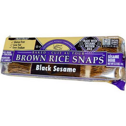 Edward&Sons, Baked Brown Rice Snaps, Black Sesame 100g