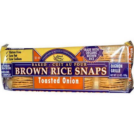 Edward&Sons, Baked Brown Rice Snaps, Toasted Onion 100g