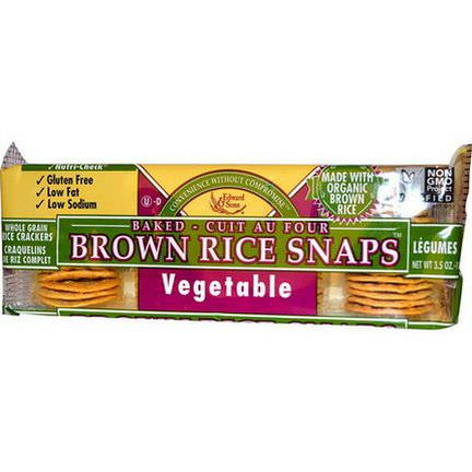 Edward&Sons, Baked Brown Rice Snaps, Vegetable 100g
