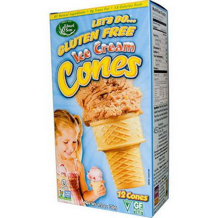Edward&Sons, Gluten Free Ice Cream Cones, 12 Cones 36g