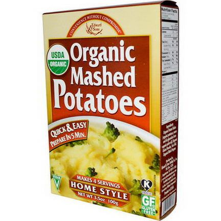 Edward&Sons, Organic Mashed Potatoes, Home Style 100g