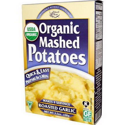 Edward&Sons, Organic Mashed Potatoes, Roasted Garlic 100g