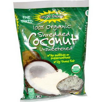 Edward&Sons, Organic Shredded Coconut, Unsweetened 227g