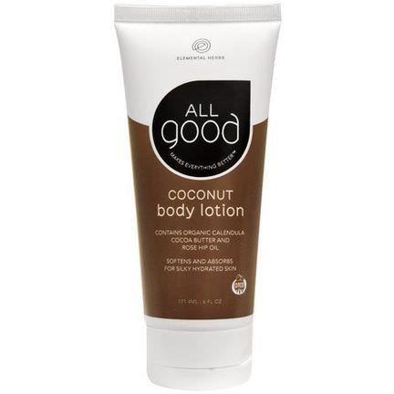 Elemental Herbs, All Good, Coconut Body Lotion 177.4ml