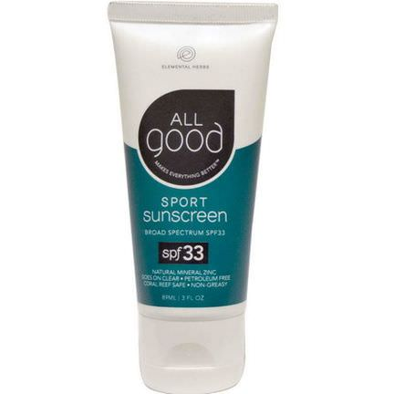 Elemental Herbs, Sport Sunscreen, SPF 33 89ml