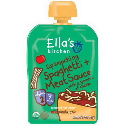 Ella's Kitchen, Lip Smacking Spaghetti Meat Sauce with a Sprinkle of Cheese, Stage 2 127g