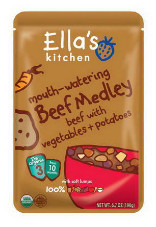 Ella's Kitchen, Mouth-Watering Beef Medley Beef with Vegetables Potatoes, Stage 3 190g