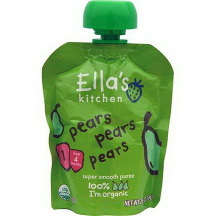 Ella's Kitchen, Pears Pears Pears, Super Smooth Puree 70g