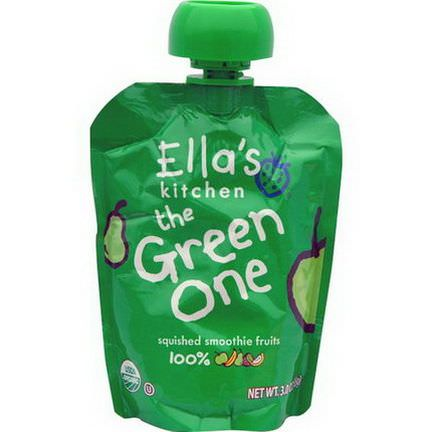 Ella's Kitchen, The Green One, Squished Smoothie Fruits 85g