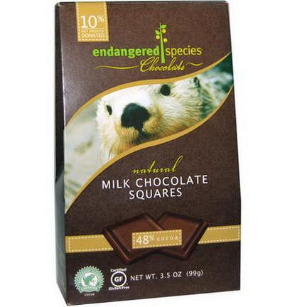 Endangered Species Chocolate, Milk Chocolate Squares 99g