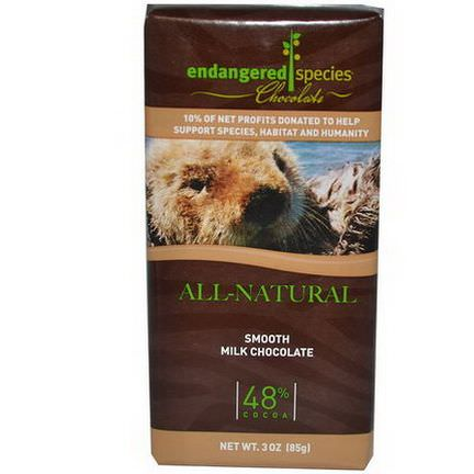 Endangered Species Chocolate, Smooth Milk Chocolate 85g