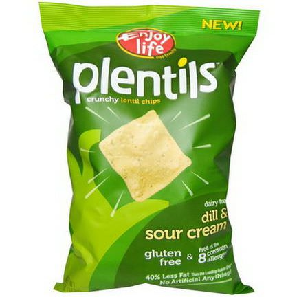 Enjoy Life Foods, Plentils, Crunchy Lentil Chips, Dill&Sour Cream 113g