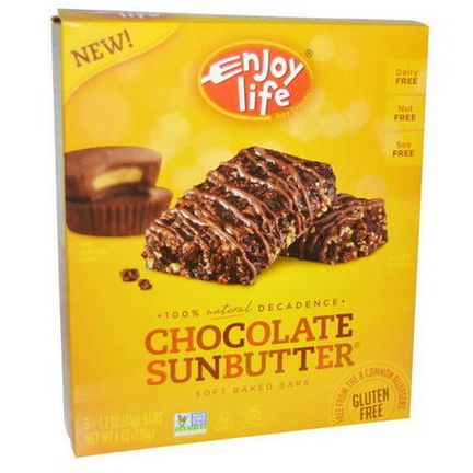 Enjoy Life Foods, Soft Baked Bars, Chocolate Sunbutter, 5 Bars 34g Each