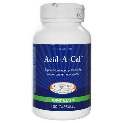 Enzymatic Therapy, Acid-A-Cal, Joint Health, 100 Capsules
