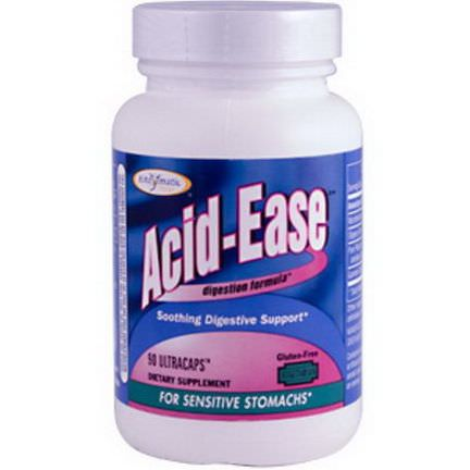 Enzymatic Therapy, Acid-Ease, Digestion Formula, 90 Veggie Caps
