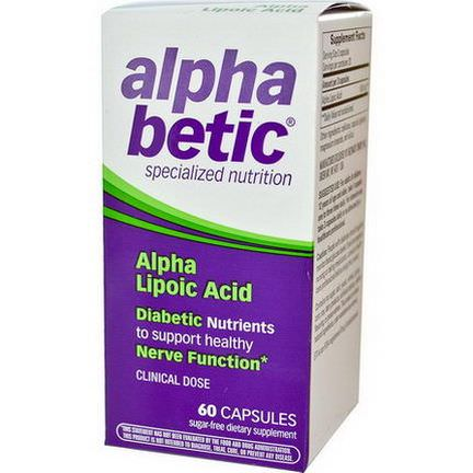 Enzymatic Therapy, Alpha Betic, Alpha Lipoic Acid, 60 Capsules