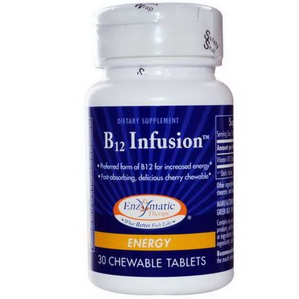 Enzymatic Therapy, B12 Infusion, Energy, 30 Chewable Tablets