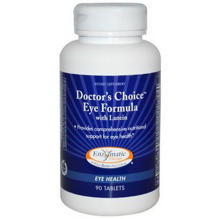 Enzymatic Therapy, Doctor's Choice Eye Formula, with Lutein, 90 Tablets