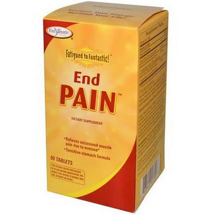 Enzymatic Therapy, Fatigued to Fantastic, End Pain, 90 Tablets