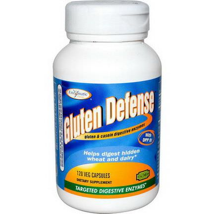 Enzymatic Therapy, Gluten Defense, Targeted Digestive Enzymes, 120 Veggie Caps