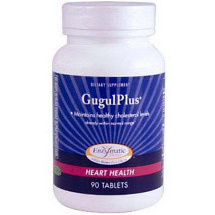 Enzymatic Therapy, GugulPlus, Heart Health, 90 Tablets