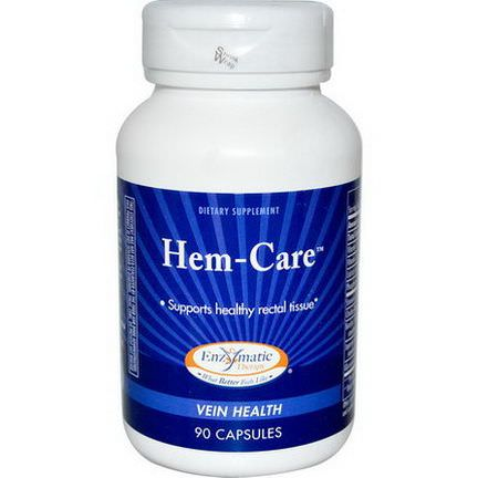 Enzymatic Therapy, Hem-Care, 90 Capsules