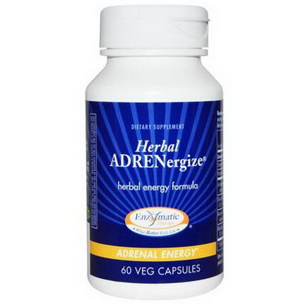 Enzymatic Therapy, Herbal Adrenergize, Adrenal Energy, 60 Veggie Caps