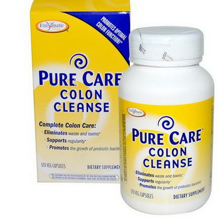 Enzymatic Therapy, Pure Care Colon Cleanse, 120 Veggie Caps