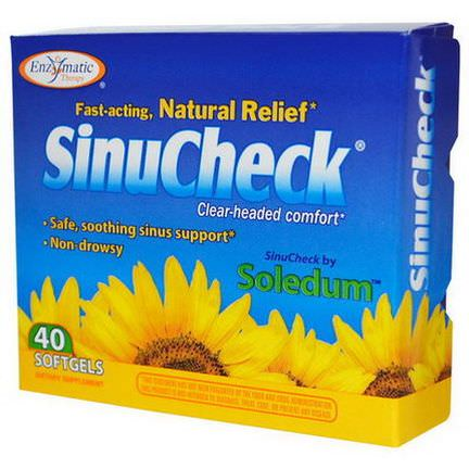 Enzymatic Therapy, SinuCheck, 40 Softgels