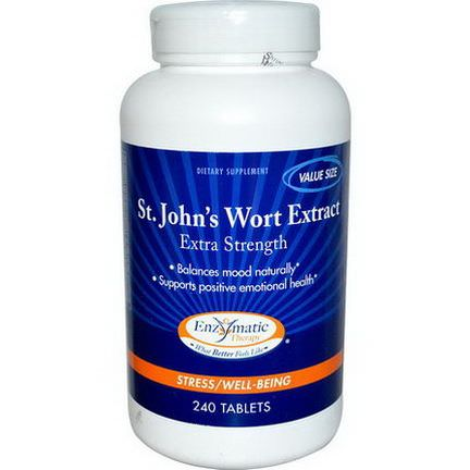 Enzymatic Therapy, St. John's Wort Extract, Extra Strength, 240 Tablets