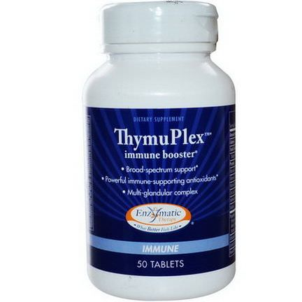 Enzymatic Therapy, ThymuPlex, Immune Booster, 50 Tablets