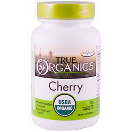 Enzymatic Therapy, True Organics, Cherry, 90 Tablets