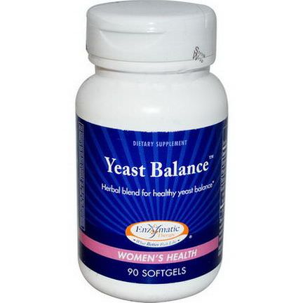 Enzymatic Therapy, Yeast Balance, Women's Health, 90 Softgels