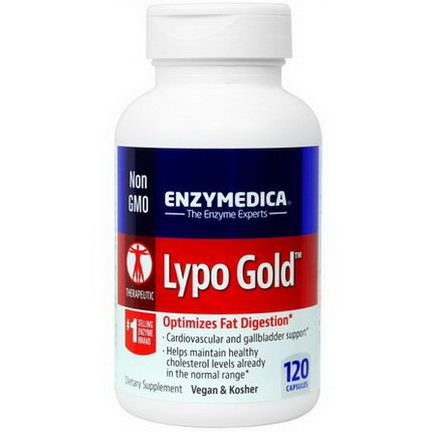 Enzymedica, Lypo Gold, Optimizes Fat Digestion, 120 Capsules