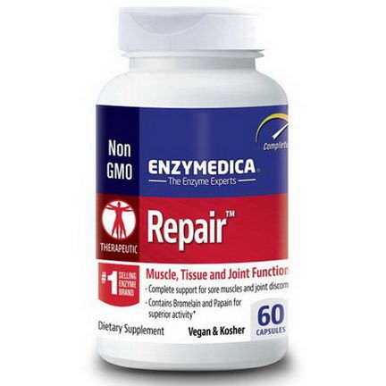 Enzymedica, Repair, Muscle, Tissue and Joint Function, 60 Capsules