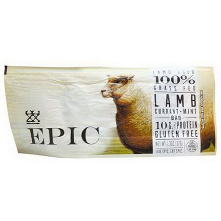 Epic Bar, Lamb Currant Mint, 12 Bars 37g Each