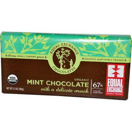 Equal Exchange, Organic Mint Chocolate With a Delicate Crunch 100g