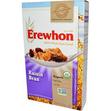 Erewhon, Organic, 100% Whole Grain Cereal, Raisin Bran 425g