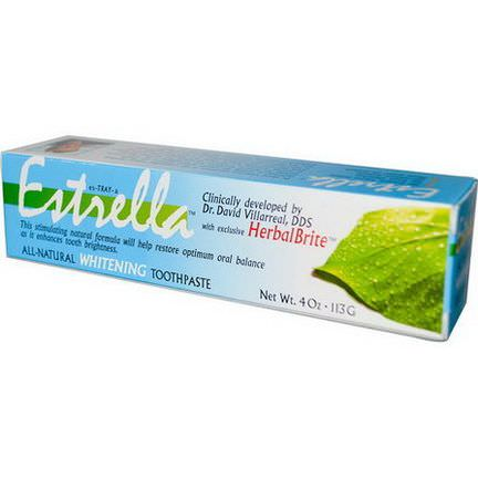 Estrella Oral Care, All-Natural Whitening Toothpaste 113g