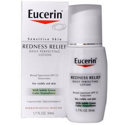 Eucerin, Redness Relief, Daily Perfecting Lotion SPF 15, Fragrance Free 50ml