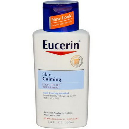 Eucerin, Skin Calming, Itch-Relief Treatment, Fragrance Free 200ml