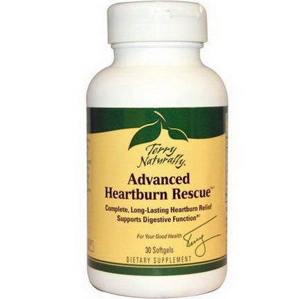 EuroPharma, Terry Naturally, Advanced Heartburn Rescue, 30 Softgels