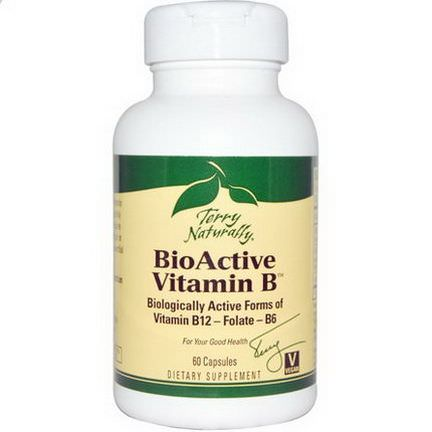 EuroPharma, Terry Naturally, BioActive Vitamin B, 60 Capsules