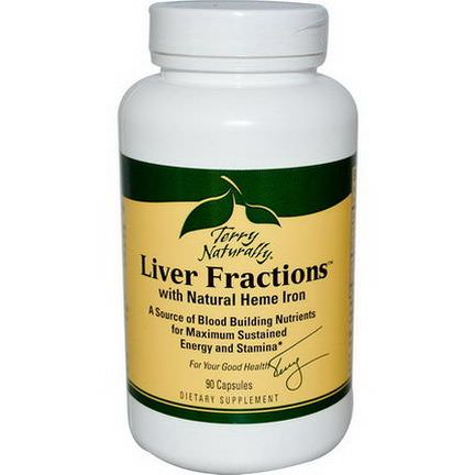 EuroPharma, Terry Naturally, Terry Naturally, Liver Fractions, with Natural Heme Iron, 90 Capsules