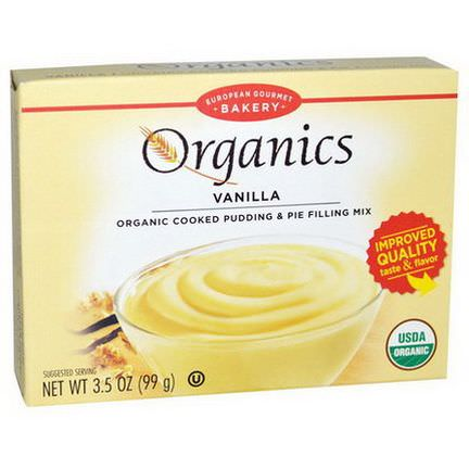 European Gourmet Bakery, Organics, Cooked Pudding and Pie Filling Mix, Vanilla 99g