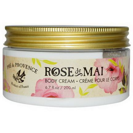 European Soaps, LLC, Pre de Provence, Rose De Mai Body Cream 200ml