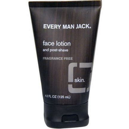Every Man Jack, Face Lotion, Fragrance Free 125ml