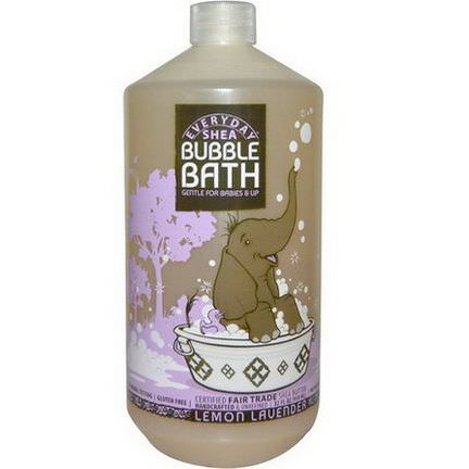 Everyday Shea, Bubble Bath, Gentle for Babies on Up, Lemon-Lavender 950ml